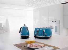 Delonghi Toaster Blue Icona Blue 4 Slice Toaster Cto4003b Delonghi Australia