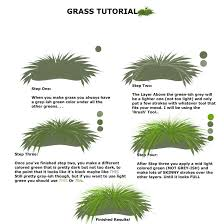 simple grass tutorial for paint tool sai users by marley on