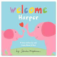 welcome one pink elephant personalized story book lillian