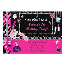 425 best makeup birthday party invitations images on pinterest