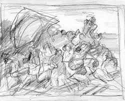 sketch for the day raft of the medusa