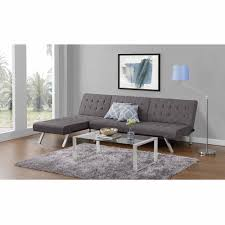 emily convertible futon with chaise lounger multiple colors