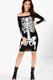 Halloween Skeleton Zoe Halloween Skeleton Bodycon Dress