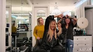 Khloe Kardashian Home by The Glam Room Watch As I Attempt To Do My Own Hair Youtube