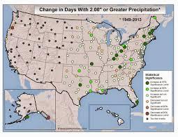 Rocky Mountain Range Map Brian B U0027s Climate Blog Heavy Rainfall Trends In The U S