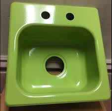 Green Kitchen Sinks | new old stock pink jadeite and turquoise kitchen sinks and more