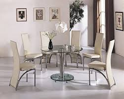 Glass Dining Table Sets - Round glass kitchen table sets