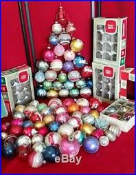 vintage ornaments balls shiny brite glass mercury