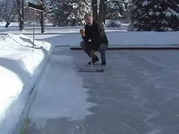 How To Build A Backyard Ice Rink by Ice Rink Maintenance 101 After The Storm Youtube