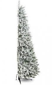half christmas tree flocked snowy tree half flat backed 7ft type 1 winter