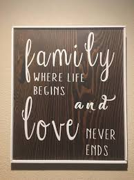 Home Decor Family Signs Home Decor Wooden Sign Family Wall Decor Rustic Country