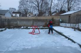 building a backyard skating rink ice work if you can get it