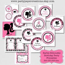 barbie printable decorations images reverse