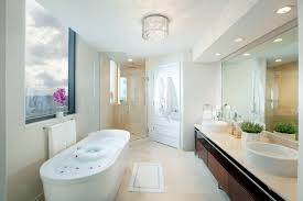 Dkor Interiors Interior Designers Miami Modern Sophisticated Bathroom Flush Mount Light Fixtures