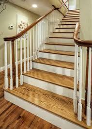 installing hardwood stair treads home pinterest hardwood