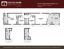schult modular home floor plans schult independence 8016 15 3 excelsior homes west inc