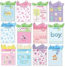 baby shower gift bags large gift bags for baby shower set of 12 paper gift