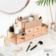 rose gold vanity table mirrored vanity table with drawers 23 pleasing beautify rose gold