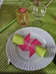pliage de serviette en papier 2 couleurs feuille les petits delices d u0027une maman pressee rond de serviette moulin a