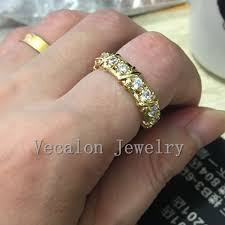 3mm ring vecalon brand jewelry engagement wedding band ring for women 3mm