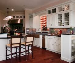 traditional kitchen cabinets in painted maple kitchen craft