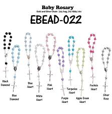 baby rosary silver chain baby rosary