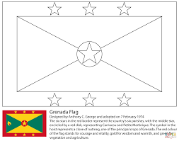 Blank Outline Map Of Trinidad And Tobago by Flag Of Grenada Coloring Page Free Printable Coloring Pages