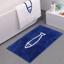 tappeti doccia 45 120 cm moderna semplice pesce lungo in microfibra bagno