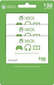 gift card packs microsoft 10 xbox gift card 3 pack green xbox live currency 3pk