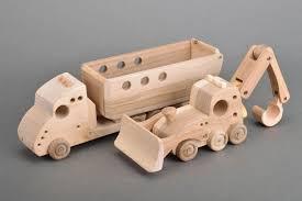madeheart u003e set of 2 handmade children u0027s wooden toys dump truck