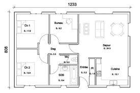 plan de maison 3 chambres salon ordinaire plan de maison 3 chambres salon 14 orientation de