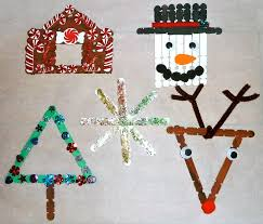 home made xmas decorations furniture marvelous homemade craft stick kids christmas decoration