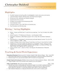 An Example Of Resume by Sample Educational Resume 6 Academic Cv Example Business