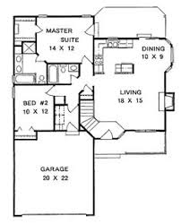 2 bedroom ranch house plans plan 1179 ranch style small house plan 2 bedroom split house