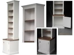 Ebay White Bookcase by Solid Pine Bookcase 8ft White Painted Alcove Display Bookcase