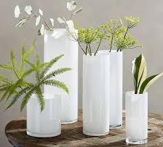 White Glass Vases Monroe Vases White Pottery Barn