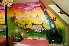 fresque murale chambre bébé chambres de filles décoration graffiti deco