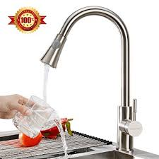 Amazon Com Kitchen Faucets by Triple Tree 304 Stainless Steel Kitchen Faucet Lead Free Single
