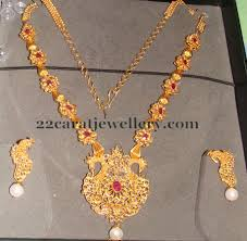 gold small necklace designs images 54 grams latest uncut diamond necklace jewellery designs jpg