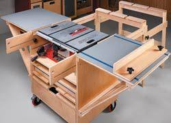 table saw workbench plans 6 diy table saw stations for a small workshop