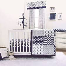 Anchor Bedding Set Nautical Crib Bedding Ebay