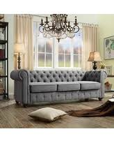 don u0027t miss this deal hardy rolled arm sofa dark grey