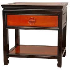 amazon com oriental furniture rosewood bedside table antique