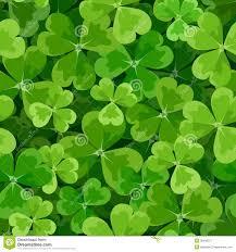 Shamrock Green St Patricks Day Seamless Background With Shamrock Royalty Free