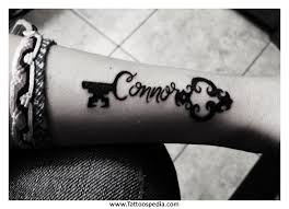 key to my heart tattoo with name