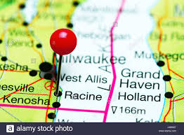 A Map Of Wisconsin by Racine Pinned On A Map Of Wisconsin Usa Stock Photo Royalty Free