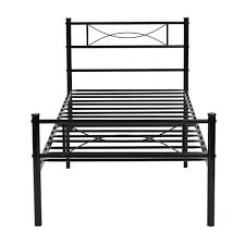 amazon com yanni premium modern easy set up steel platform bed