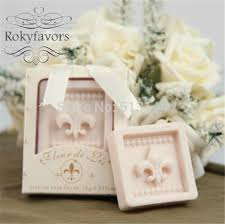 bridal shower party supplies free shipping 50pcs fleur de lis soap favors scented soap bridal