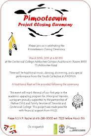 Sample Invitation Card For Graduation Ceremony Pimooteewin Program Centennial College Invitation To The