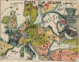 Map Of Europe 1914 21 Bizarre Maps That Depict Nations As Animals People And
